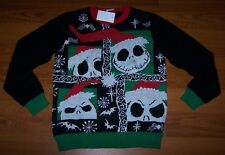 Size L 14/16 Boys Ugly Christmas Sweater Disney Nightmare Before Christmas Jack