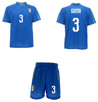 Completo Italia Gama Sara Maglia + Pantaloncini FIGC  Mondiali 2019 ufficiali