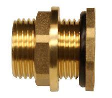 "RAINPAL BBF020 Brass Bulkhead Tank Fitting 1/2""inch Female Pipe and 3/4"" male GH"