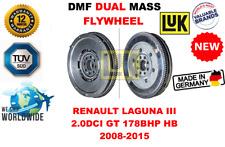 Para Renault Laguna III 2.0dci Gt 178bhp Hb 2008-2015 Nuevo de Doble Masa Dmf