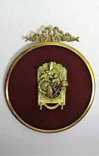 Frame Medallion Painting Sculpture Animals 'Owl - Animal Carving