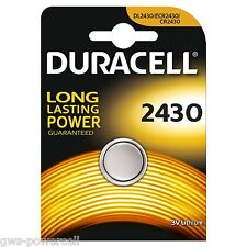 20 x Duracell CR2430 / CR 2430 DL2430 / DL 2430 3V Lithium Cell 6430  Blister