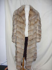 "Ladies Coat,Elizabeth Arden,Chest 34"",Cream & Brown fur, rip under arm - 2228"