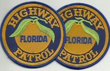 2 x State Highway Patrol Floride (miami) police police insigne patch offre!
