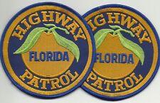 2 x STATE HIGHWAY PATROL FLORIDA (MIAMI) POLICE Polizei Abzeichen Patch ANGEBOT!