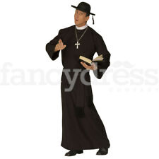 Mens Priest Fancy Dress Costume Vicar Stag Night Holy Religious Irish XL NEW