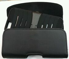 IPHONE 5 5c 5s HOLSTER BELT LOOP CLIP LEATHER POUCH FITS WITH A CASE ON PHONE