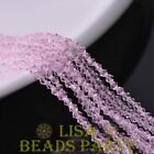200pcs 3mm Bicone Faceted Crystal Glass Loose Spacer Beads Pink