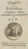CHODOWIECKI (1726-1801). Titel-Vignette zu Bunsens Siegfried von Lindenberg
