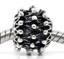 Sunburst Ball Pattern Metal Charm Spacer Sun Bead for Silver European Bracelet