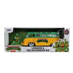 Jada Hollywood Rides: TMNT Leonardo & 1962 VW Classic Bus 1/24 Scale