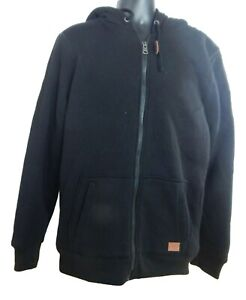 Men's Buffalo David Bitton Full Zip Sherpa Lined Hoodie Sweatshirt