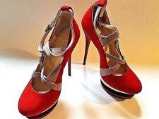 PIERRE PHILLIP Womens High Heel Stiletto Ella Shoes RED Italy Sz 39 (US 8.5)