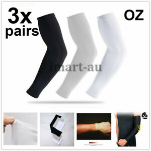3 Pairs Cooling Sport Arm Sleeves Sun UV Protection Covers Cycling Golf Tennis