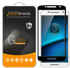 Supershieldz Moto Droid Maxx 2 Full Cover Tempered Glass Screen Protector (Bk)