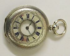Swiss Silver Half Hunter Watch By Japy Freres - £350