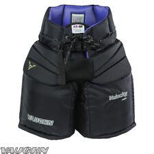 "New Vaughn 1100i Int goal pants intermediate medium 26"" ice hockey goalie black"