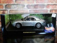 Hot Wheels 1998 Porsche 911 Carrera 1:18 Scale Diecast Model Car Gray