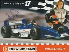 2004 Nelson Philippe signed LeasePlan Ford Lola CART Champ Car postcard