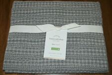 Pottery Barn Honeycomb Cotton Gray King Pillow Sham Neutral New!