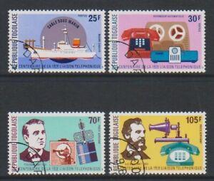 Togo - 1976, Telephone Centenary set - CTO - SG 1126/9 (h)