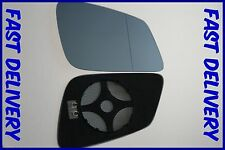 BMW 5 SERIES F10 F11 ESTATE 2010+ WING MIRROR GLASS BLUE WIDE ANGLE HEATED RIGHT