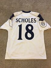 MANCHESTER UNITED AWAY SHIRT 2000-01 ADULTS LARGE (L) SCHOLES CHAMPIONS JERSEY