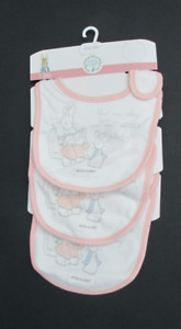 Peter Rabbit Girls Illustrated Bibs Set of 3 Same Design
