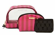 Victoria's Secrets Signature Pink/Red Stain Stripe Trio Bag