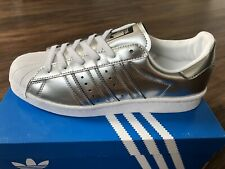 ADIDAS Originals Superstar Boost Women's Trainers, Silver - Size 6