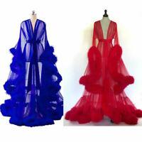 Women Bathrobe Sleepwear Robes Sleep for Woman Wedding Gowns Feather Custom Made