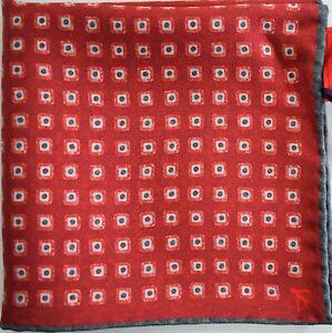 🆕️ NEW Auth ISAIA NAPOLI 100% SILK Pocket Square Pochette Handkerchief