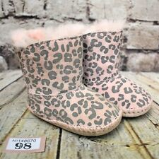 Baby UGG Australia Cassie Pink Suede & Sheepskin Pull On Ankle Boots UK 2 Infant