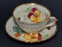 TUSCAN Fine Bone China Tea Cup & Saucer Floral Pattern W/Gold Trim  England