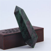 Rare Natural Healing Quartz Wand Epidote Crystal Points Cure Gemstone