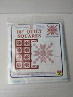 """Jack Dempsey Needle Art 18"""" Quilt Squares Embroidery Pattern #268 Stepping Stone"""