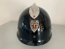 More details for  french police helmet 'petitcollin' 1970. collectors item.