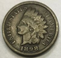 1898 INDIAN HEAD CENT **** NICE CIRCULATED COIN - L@@K AT PICTURES!!!!!  #1205