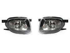 DEPO 03-06 Mercedes W211 E320 E350 Black OE Replacement Glass Fog Light Pair