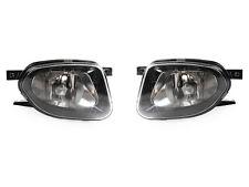 DEPO 03-06 Mercedes W211 E320 E350 Black OE Replacement Glass Fog Light Pair