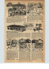 1956 Paper Ad Metal Plastic Doll House Toy Tea Sets Cook Ware Pots Pans