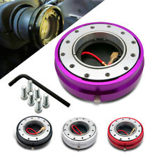 SNAP OFF QUICK RELEASE BOSS KIT HUB FIT MOMO SPARCO NRG STEERING WHEEL PURPLE