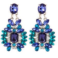 GN- EG_ Women Fashion Jewelry Statement Resin Rhinestone Ear Studs Drop Earrings