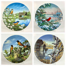 """Knowles """"Birds Of The Season"""" By Sam Timm - 4 Vintage Collector plates"""