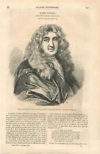 Robert Nanteuil 1623-1678 graveur dessinateur gravure de Edelinck GRAVURE 1859