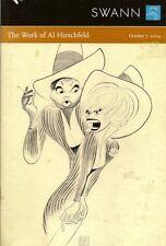 RARE - SWANN Al Hirschfeld Art Books Ephemera Auction Catalog 2004