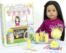 "Lemonade 9PC Set 4 Glasses,Pitcher 18"" Doll Food For American Girl Dolls"
