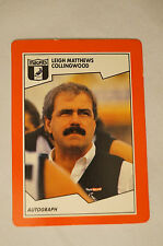 COLLINGWOOD MAGPIES - Leigh Matthews - Stimorol Card.