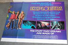 EXPLORERS original rare quad movie poster RIVER PHOENIX/ETHAN HAWKE/JOE DANTE