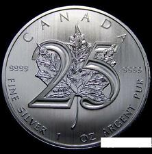 Canada Maple Leaf 2013 25th Anniversary Pure Silver .999 1oz 加拿大枫叶25周年1盎司银币